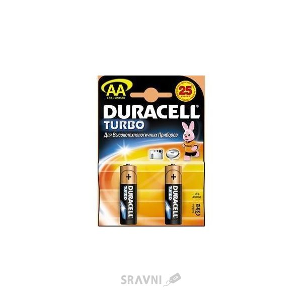 Фото Duracell AA bat Alkaline 2шт Turbo 81331160