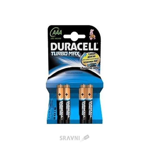Фото Duracell AAA bat Alkaline 4шт Turbo Max 81368088