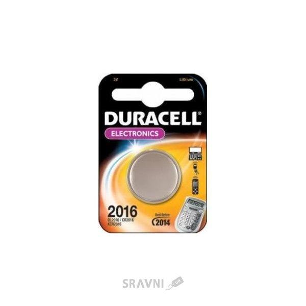 Фото Duracell CR-2016 bat(3B) Lithium 1шт 81269133