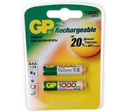 Фото GP Batteries AAA 1000mAh NiMh 2шт (100AAAHC)