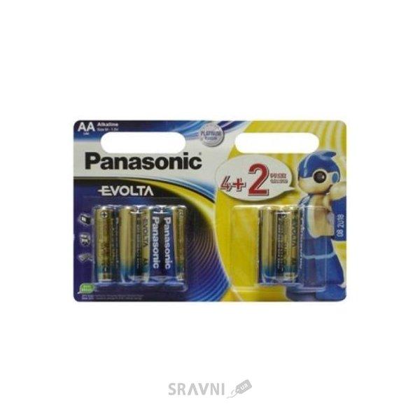 Фото Panasonic AA bat Alkaline 4+2шт EVOLTA (LR6EGE/6B2F)