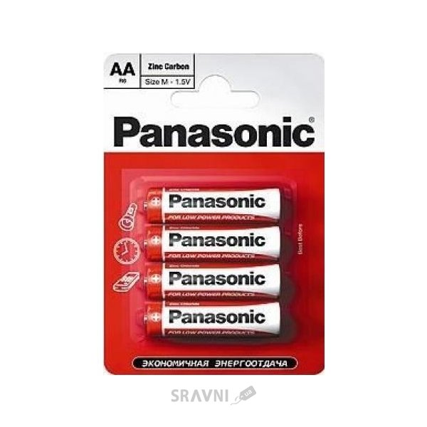 Фото Panasonic AA bat Carbon-Zinc 4шт (R03UE/4PR)