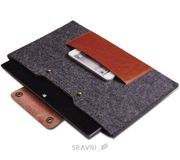 Фото D-Park Woolfelt Dark Grey & Coffee для Macbook Air 11