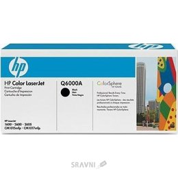 Цены на HP Картридж HP CLJ1600/2600 black Q6000A 2 500 стр@5% (A4) для серии Color LaserJet 1600/2600/2605 series, CLJ CM1015/1017, фото