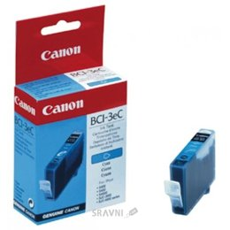 Цены на Canon 4480A002 Чернильница Canon BCI-3eС Cyan, F47-3141300, 390 стр@7,5% (A4) для BJC-3000/6000/6100/6200/6500, BJ-i550/i850/i6500, S400/450/4500/500/520/600/630/6300/750, SmartBase MPC400/600F/MP700Photo/MP730Photo, (оригинал), фото