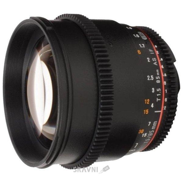 Фото Samyang 85mm T1.5 AS IF UMC VDSLR Canon EF