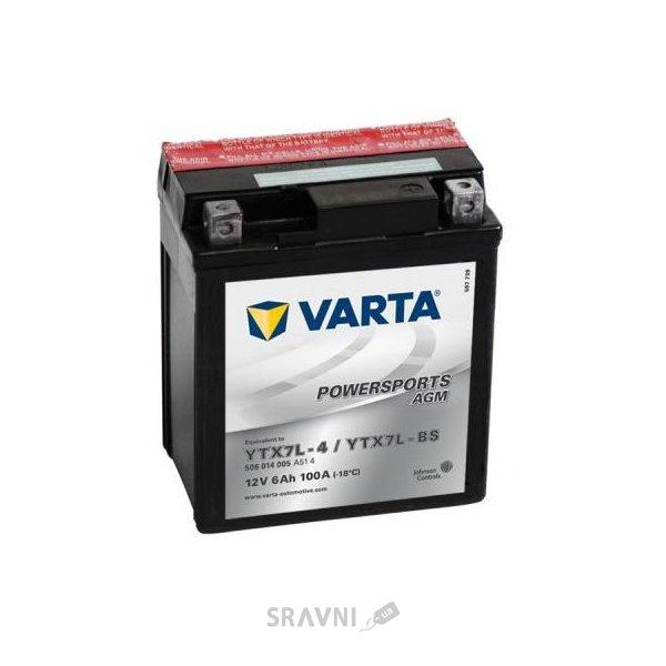Фото Varta 6CT-6 FUNSTART AGM (YTX7L-4, YTX7L-BS)