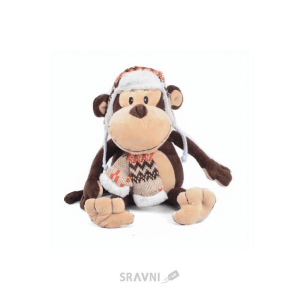 Фото MaxiToys Обезьянка Гришка с шарфом и шапкой 22 см (MT-TS0215033)