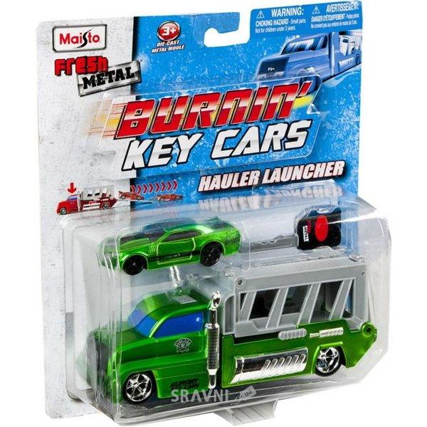 Фото Maisto Набор Трейлер + авто Burnin Key Car Launcher Hauler (15102)