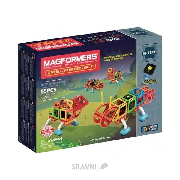 Фото Magformers Hi-Tech Crawl Friends set 709006