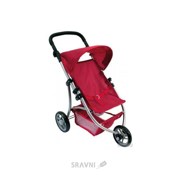 Фото Bino Трехколесная коляска для кукол красная (82914)