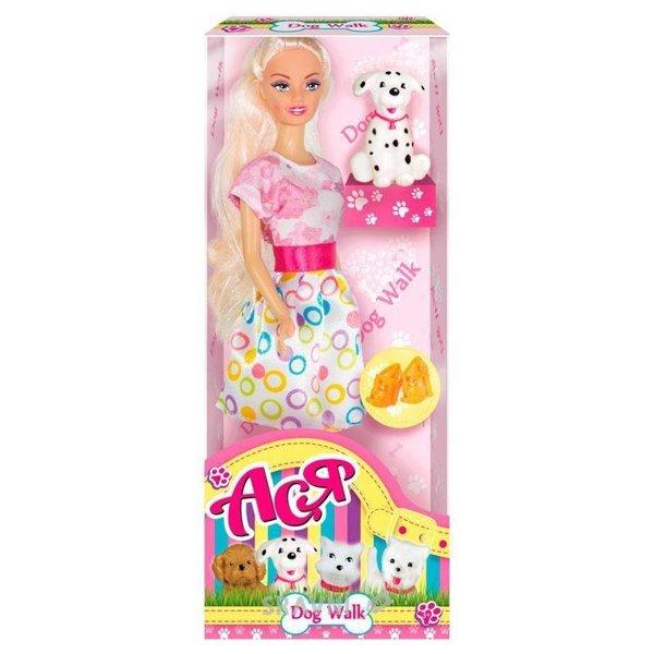 Фото Toys Lab Прогулка с собачкой, блондинка розово-белом платье (35058)