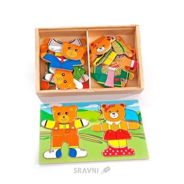 Фото Мир деревянных игрушек Два медведя (Д182)