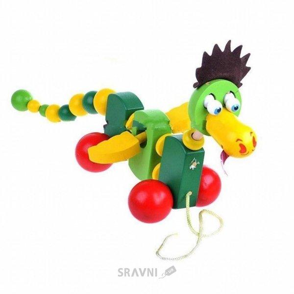 Фото Мир деревянных игрушек Каталка Дракончик (Д283)