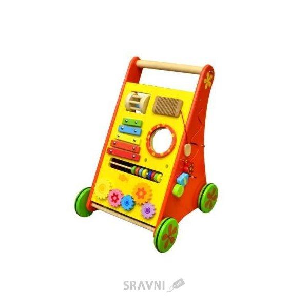 Фото Na-Na Развивающая деревянная игрушка на колесиках (IE172)