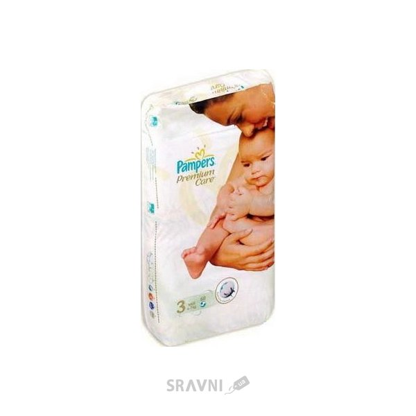 Фото Pampers Premium Care Midi 3 (60 шт.)