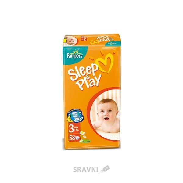 Фото Pampers Sleep&Play Midi 3 (58 шт.)