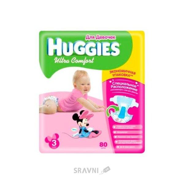 Фото Huggies Ultra Comfort для девочек 3 (80 шт.)