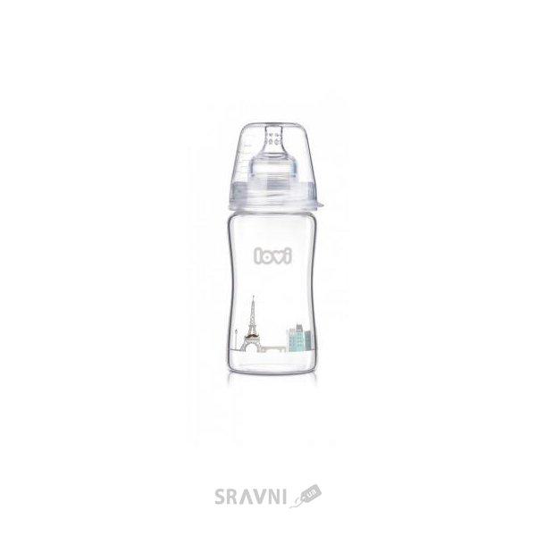 Фото LOVI Бутылочка для кормления Diamond Glass Retro boy 250 мл (74/203)