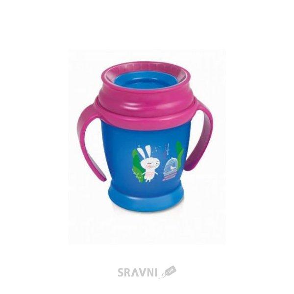 Фото LOVI Чашка с ручками для девочки Folky mini Следуй за кроликом 210 мл (1/524new)