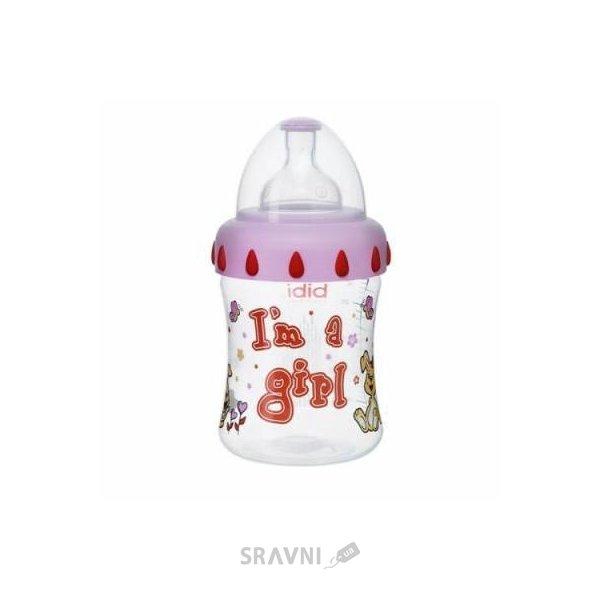 Фото Bibi Бутылочка с широким горлышком I'm a girl PP, соска 3в1, 250 мл (110204)