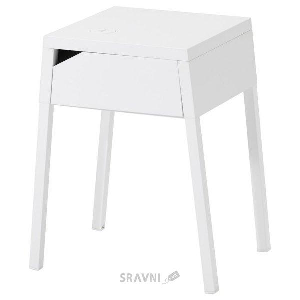 Фото IKEA SELJE Ночной столик с пров. с помощью зарядного устройства (390.947.38)