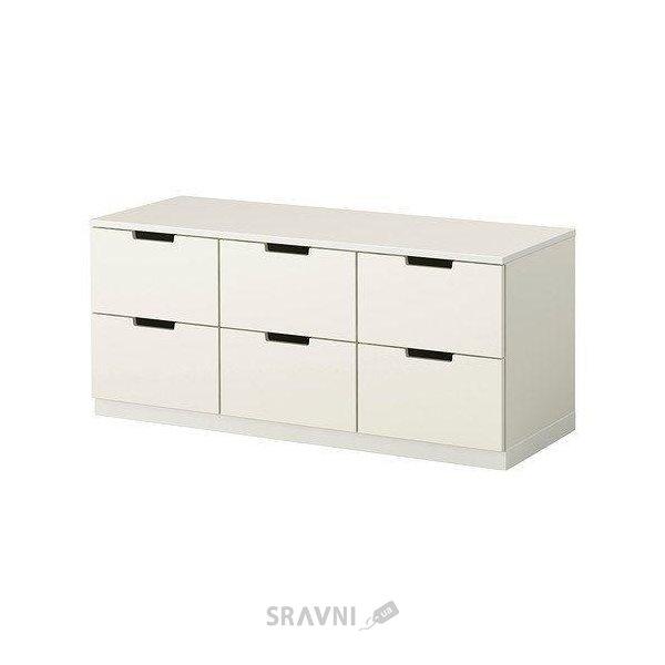 Фото IKEA NORDLI Комод с 6 ящиками, белый (190.212.72)