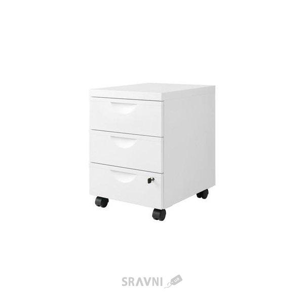 Фото IKEA ERIK Тумба на колесиках с 3 ящиками, белый (101.518.09)