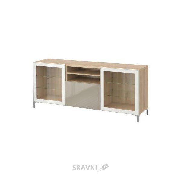 Фото IKEA BESTA Скамья ТВ с выдвижными ящиками (590.831.35)