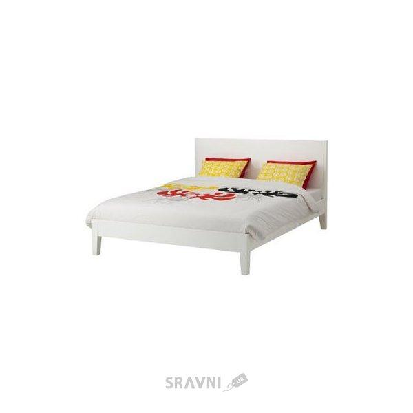 Фото IKEA NORDLI Каркас 160x200 и LEIRSUND основа под матрас (590.199.55)