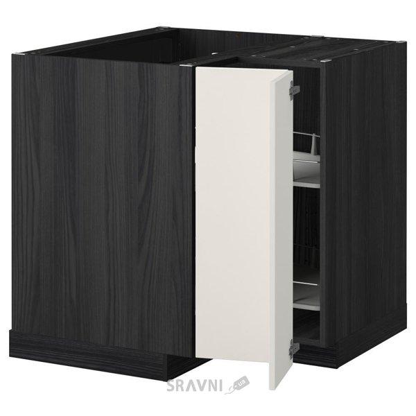 Фото IKEA METOD Угловой напольный шкаф с вращающейся секцией (699.157.02)
