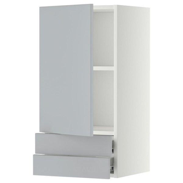 Фото IKEA METOD/FORVARA Навесной шкаф с дверкой/2 ящика, белый 40x80 (999.180.06)