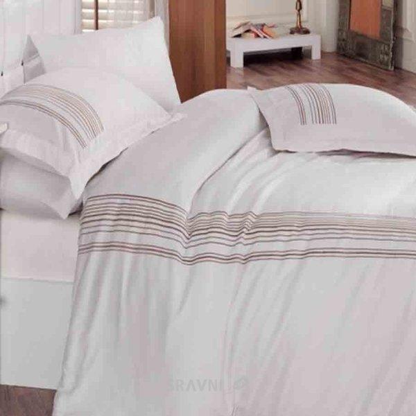Фото Cotton Box ALWAYS BEYAZ двуспальный Евро с вышивкой 01007787