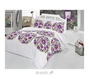 Фото Zambak 9463-02 двуспальный Евро белый с фиолетовым (01008116)