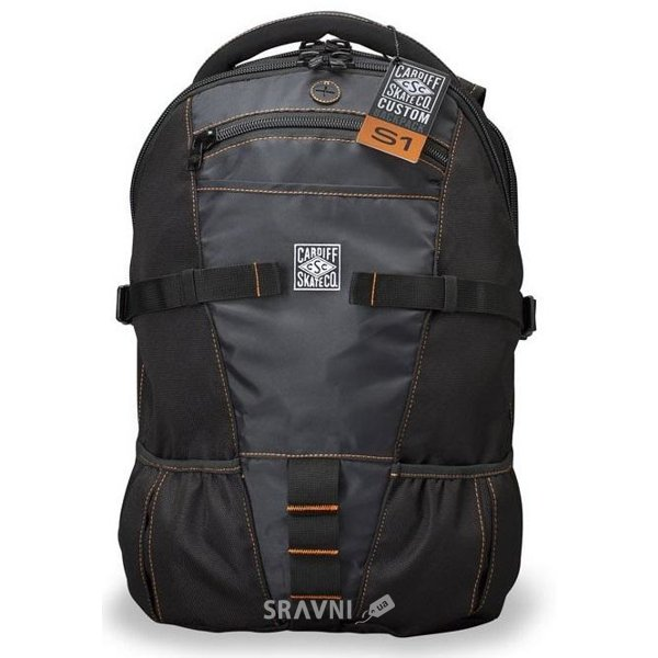 Фото Cardiff Backpack (S1) / black/orange accent