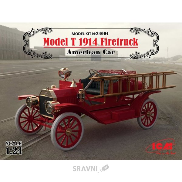 Фото ICM Американский пожарный автомобиль Model T 1914 г. (24004)