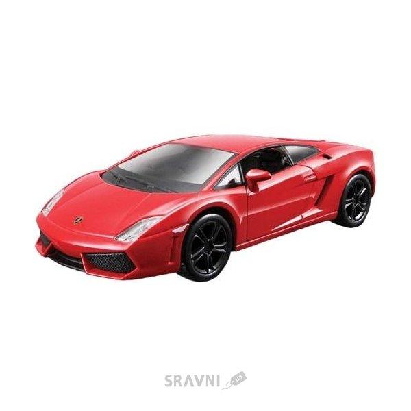 Фото Bburago Lamborghini Gallardo LP560-4 (2008) (красный, желтый металлик 1:32) 18-45128