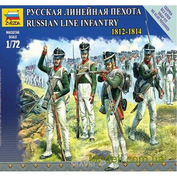 Фото ZVEZDA Русская линейная пехота, 1812-1814 (ZVE6808)
