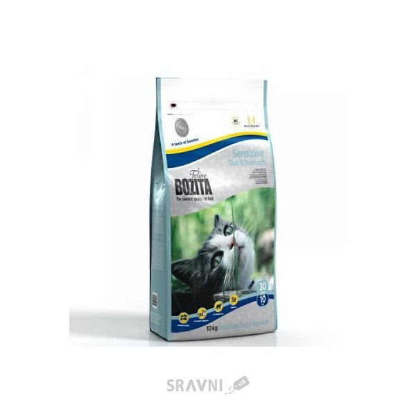Фото Bozita Feline Sensitive Diet & Stomach 10 кг