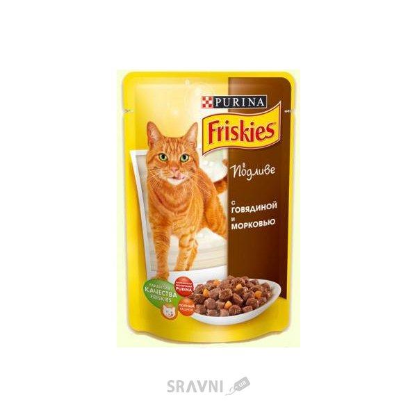 Фото Friskies Консервы С говядиной и морковкой в подливке 0,1 кг