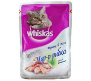 Фото Whiskas Цельные кусочки тунца в желе 85 гр