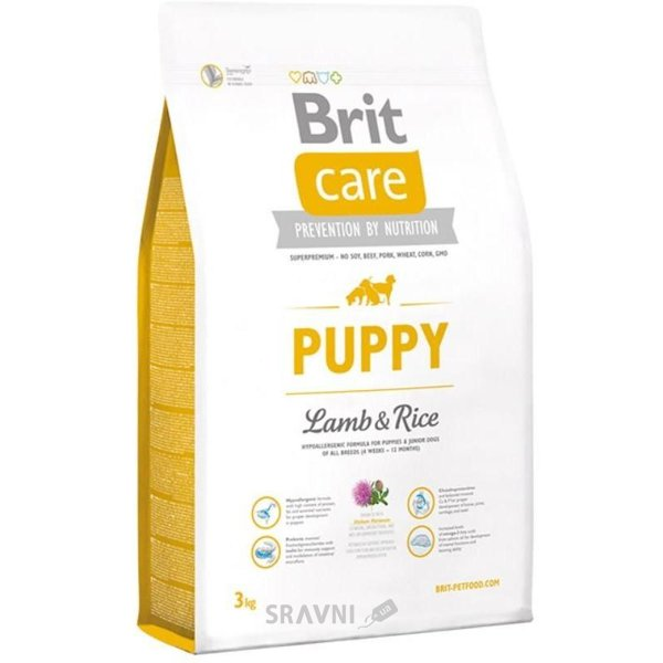 Фото Brit Care Puppy All Breed Lamb & Rice 3 кг