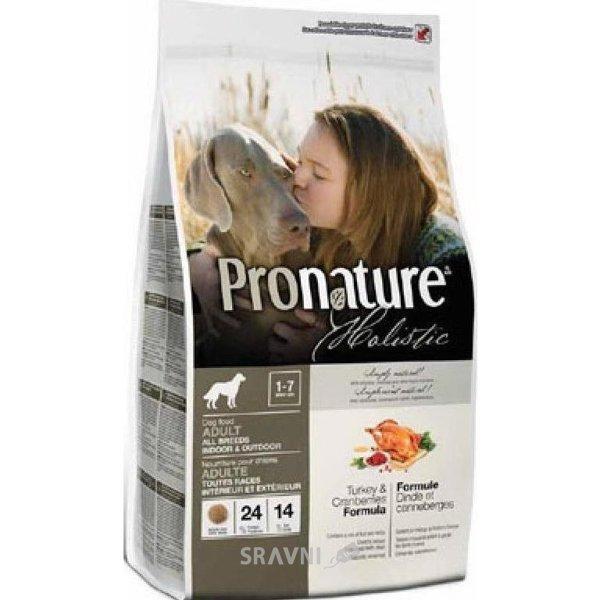 Фото Pronature Holistic для взрослых собак всех пород индейка с клюквой 13,6 кг