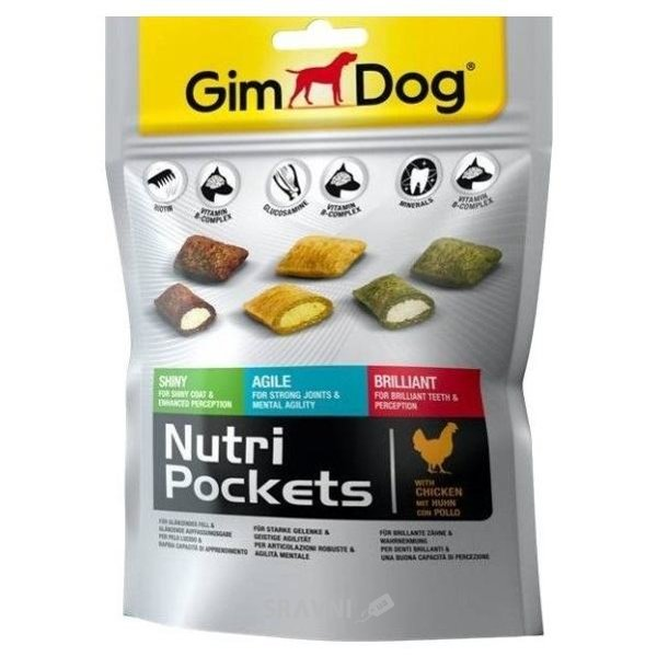 Фото Gimpet GimDog Nutri Pockets Mix 150 гр