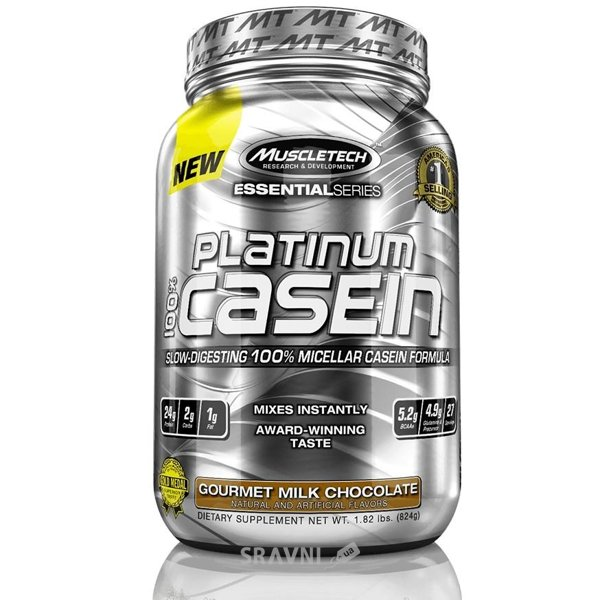 Фото MuscleTech Platinum 100% Casein 824 g (28 servings)