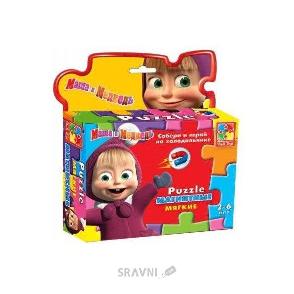 Фото Vladi Toys Магнитный паззл Маша зимой (VT1504-15)