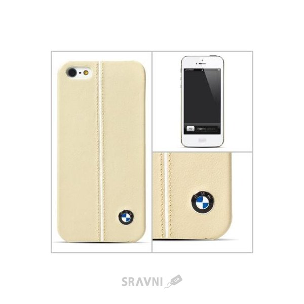 Фото CG Mobile BMW Leather Hard Case for iPhone 5/5s Cream (BMHCP5LC)