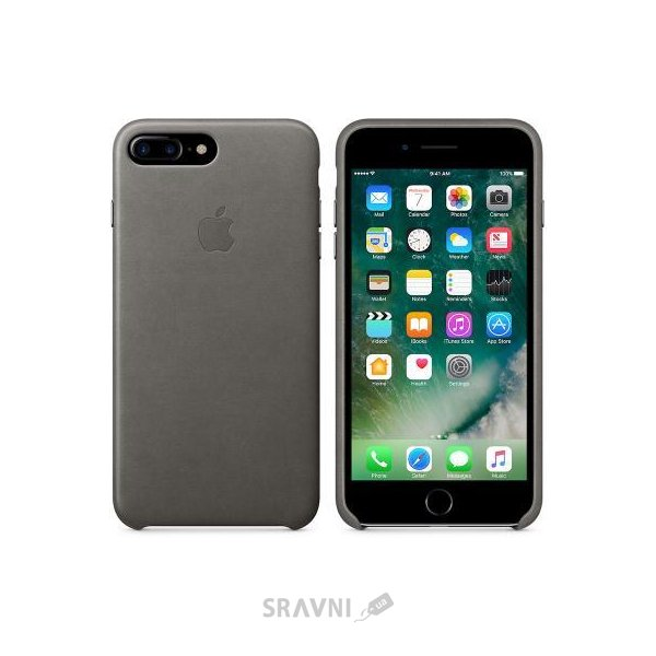 Фото Apple iPhone 7 Plus Leather Case - Storm Gray (MMYE2)