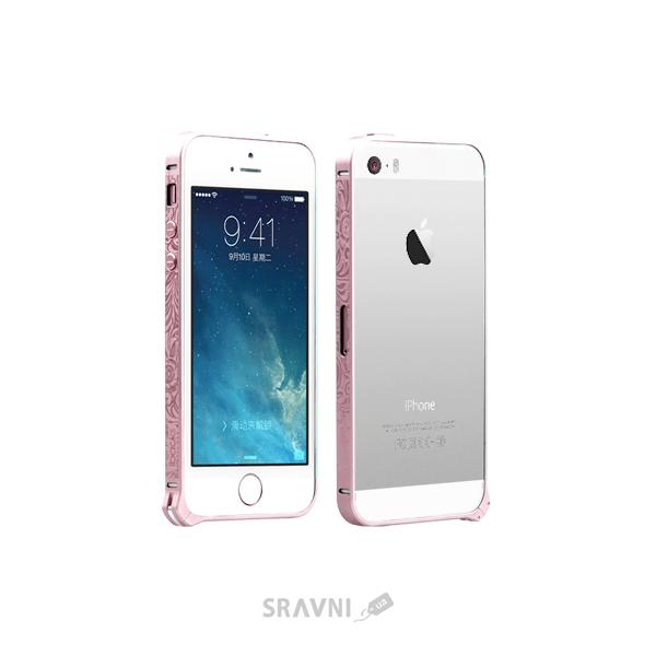 Фото iBacks Cameo Bumper Venezia Series iPhone 5/5S/SE Pink (IP50214)