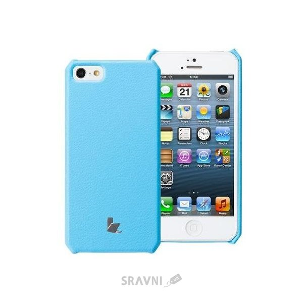 Фото JisonCase Microfiber wallet cover case for iPhone 5/5S blue (JS-IP5-01H40)